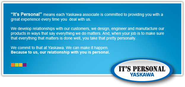 Yaskawa - It's Personal